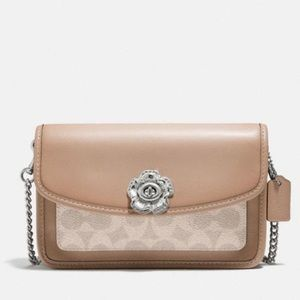 Coach parker crossbody in signature canvas